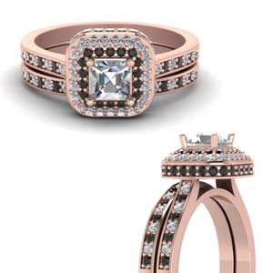 Black Diamond Pave Bridal Set