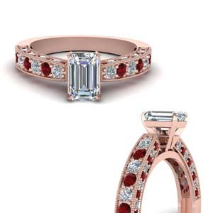 18k Rose Gold Ruby Wedding Ring