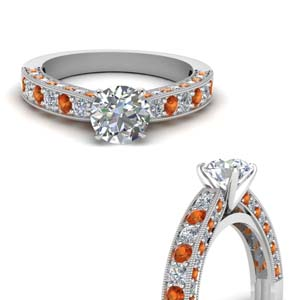 Pave Round Cut Diamond Ring
