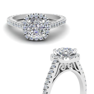 Lab Grown Diamond Petite Halo Ring