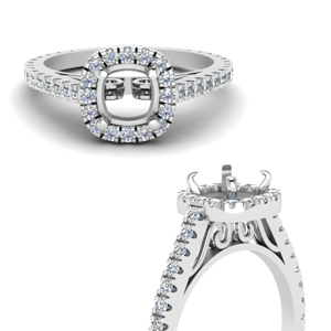 French Pave Diamond Ring Setting