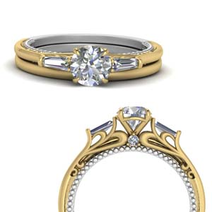 Multi Gold Diamond Wedding Set
