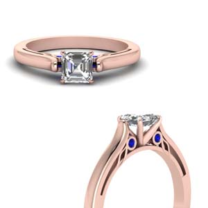 Sapphire Cathedral Wedding Ring
