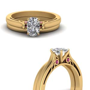 14K Yellow Gold Ring Set