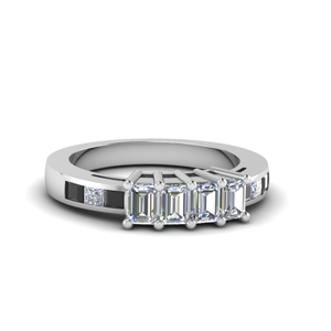 Black Diamond 4 Emerald Cut Band