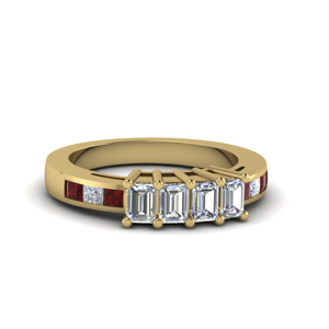 18K Gold Band With Ruby