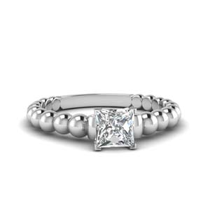 Bead Diamond Engagement Ring