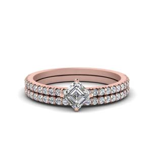 1.50 Carat Diamond Kite Ring Set