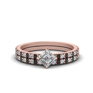 Rose Gold Black Diamond Set