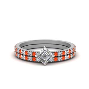 Orange Topaz Petite Ring Set