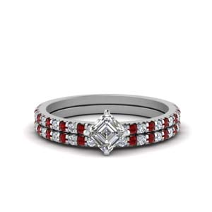 Ruby 1.50 Ctw. Diamond Bridal Set