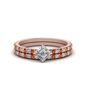 Petite Diamond Wedding Ring Set