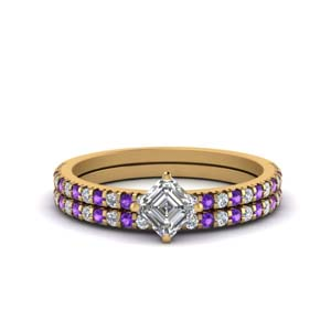 Kite Diamond Accent Ring Set