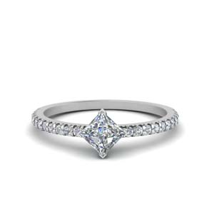 Diamond Kite Accent Wedding Ring