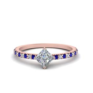 1 Carat Sapphire Accent Ring