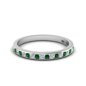 Delicate Emerald Round Band