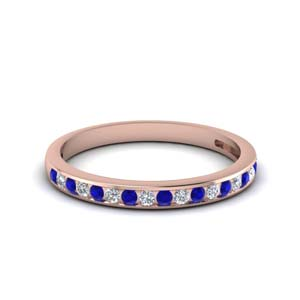 Sapphire Channel Set Band