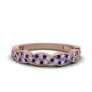 Sapphire Twisted Wedding Band
