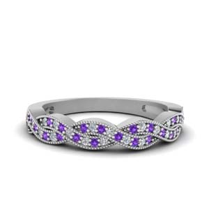 Infinity Purple Topaz Wedding Band