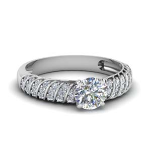 Twist Rope Diamond Wedding Ring