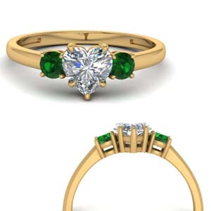 Delicate Emerald 3 Stone Ring