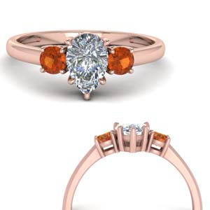 Basket Prong Pear Diamond Ring