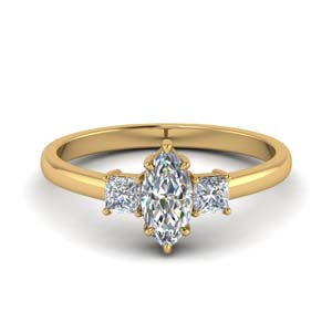 3 Stone Marquise Cut Wedding Ring