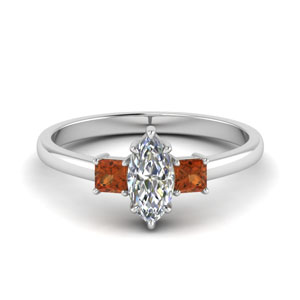Marquise Cut 3 Stone Ring