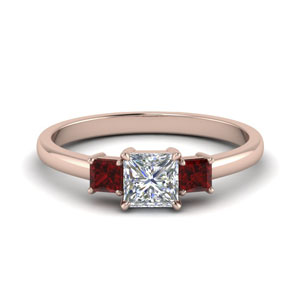 Past Present Future Ruby Ring
