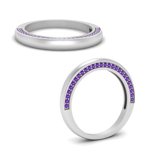 Classic Pave Purple Topaz Band