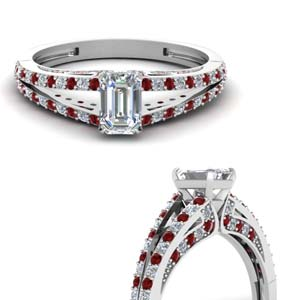 delicate split shank emerald cut diamond engagement ring with ruby in FDENS3131EMRGRUDRANGLE3 NL WG.jpg