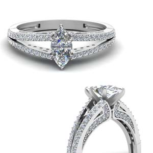 Double Shank Diamond Ring