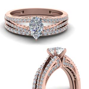 Accent Split Diamond Ring Set
