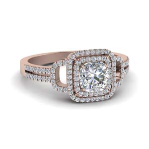 Look sophisticated with Double Halo Engagement Rings | Fascinating Diamonds