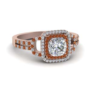 cushion cut double halo diamond engagement ring with orange sapphire in FDENS3202CURGSAOR NL RG.jpg