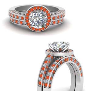 Bridal Set With Orange Topaz