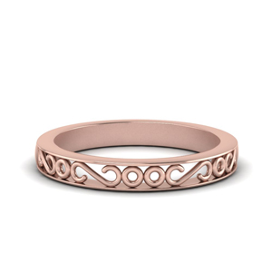 Filigree Design Wedding Band
