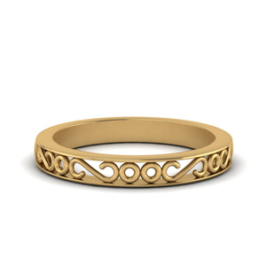 18K Yellow Gold Antique Band