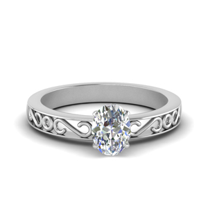 Filigree Single Stone Ring