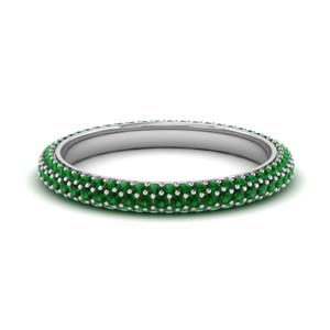 1 Ct. Emerald Band With Micro Pave