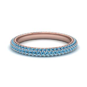 1 Ct. Blue Topaz Micro Pave Band