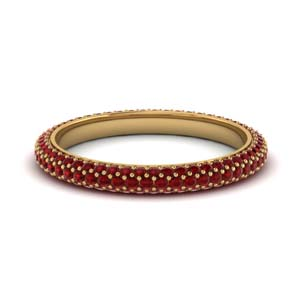 Micro Pave 1 Ct. Ruby Band