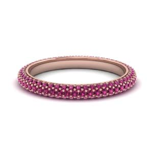 1 Ct. Pink Sapphire Pave Band