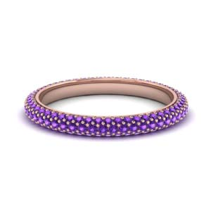 1 Carat Purple Topaz  Pave Band