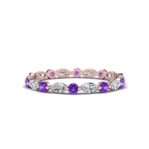 Thin Marquise Stackable Band