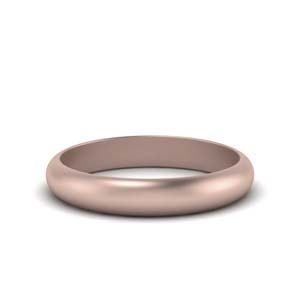 Rose Gold Comfort Fit Wedding Ring