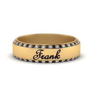 Black Diamond Men Wedding Band