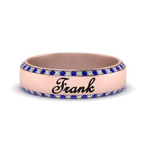 Personalized Sapphire Band