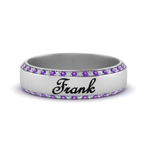 Purple Topaz Personalized Band