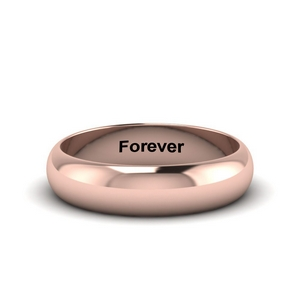 Engraved Promise Ring For Her